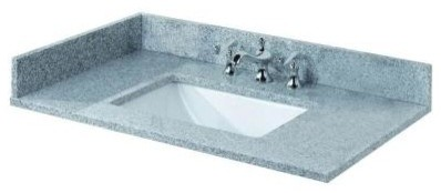 Pegasus 31 in. W Granite Bathroom Vanity Top with Trough Sink and 8 in. Faucet S contemporary-bathroom-vanities-and-sink-consoles