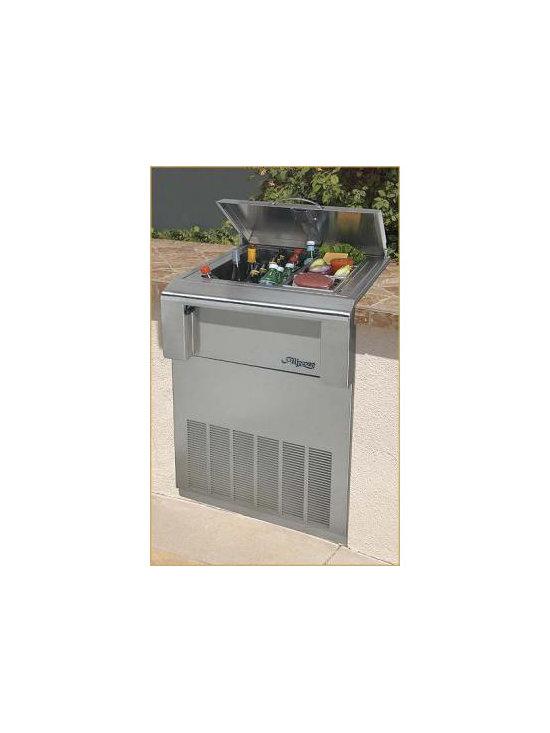 "Alfresco 24"" Freestanding Refrigerator Cart, Stainless Steel | ARDIC -"