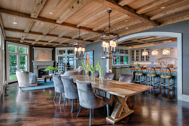 Rustic Elegance Transitional Dining Room Other Metro