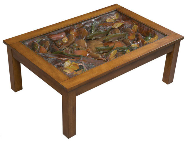 Trout Stream Coffee Table Rustic Coffee Tables By Black Forest Decor