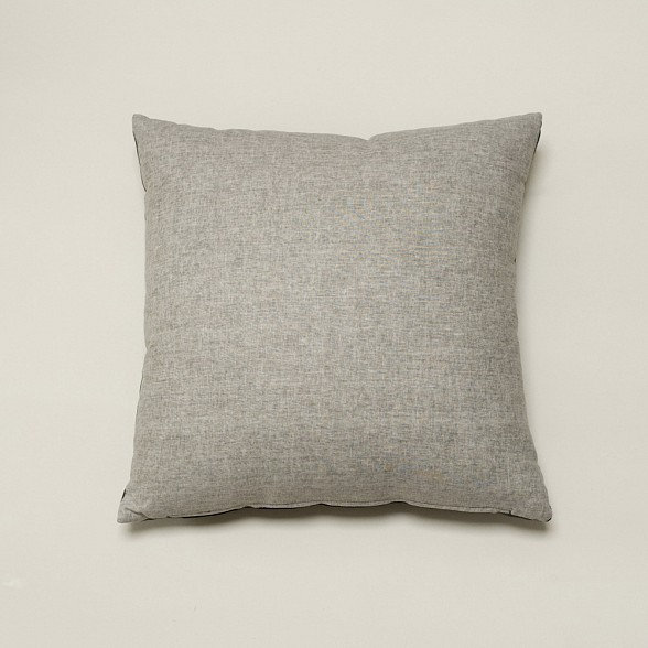 Grey Linen Throw Pillow : Solid Gray Washing/Black Linen Pillow - Traditional - Decorative Pillows - by Cloth and Goods