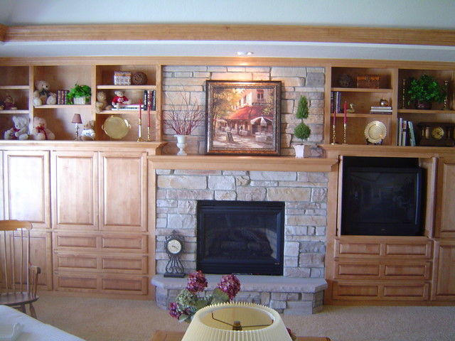 Entertainment Centers contemporary-family-room