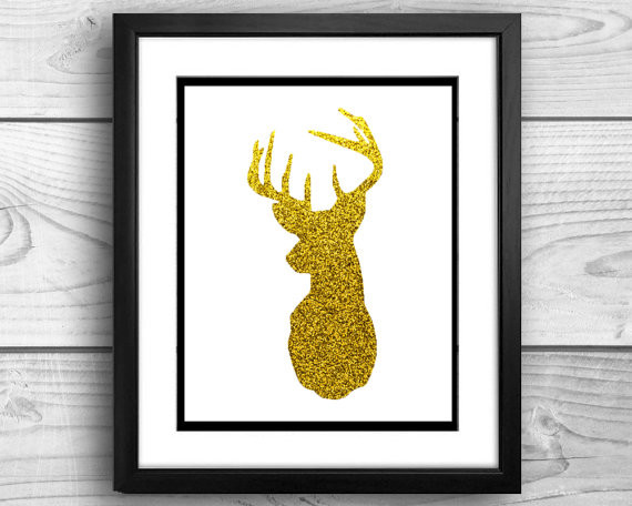 DIY Printable Gold Deer Decor by Kensington Creations contemporary-holiday-decorations