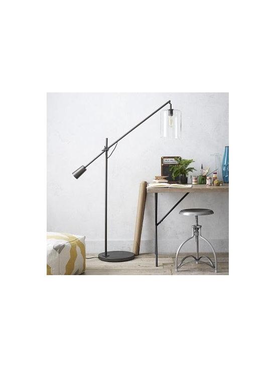 Adjustable Glass Floor Lamp   west elm -
