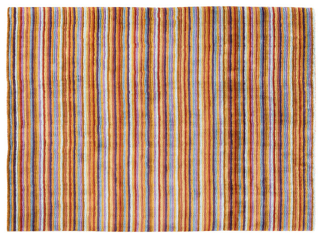 Colorful Stripes Rug Modern Rugs Los Angeles By Viesso