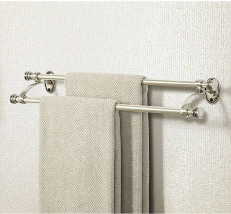 Beaded Bath Double Towel Bar - Traditional - Towel Bars And Hooks - by Ballard Designs