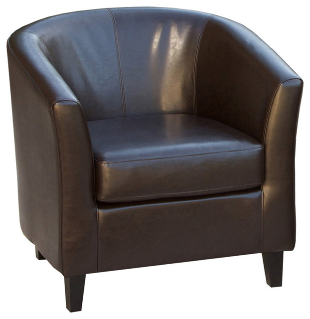 Petaluma Tub Design Leather Club Chair Contemporary