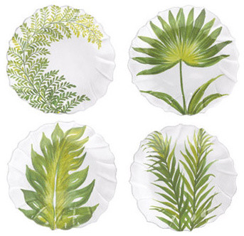 Painted Palms Assorted Salad Plate tropical-salad-and-dessert-plates