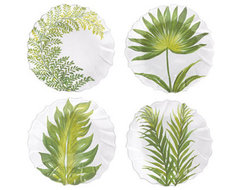 Painted Palms Assorted Salad Plate tropical dinnerware