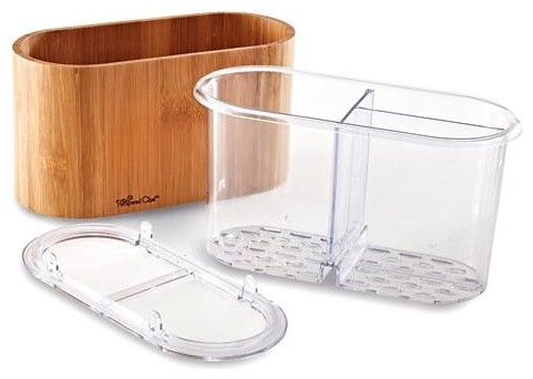 Bamboo Sink Caddy Contemporary Kitchen Sinks By The