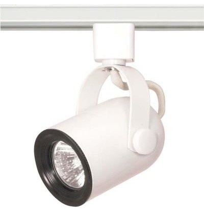 Glomar 1-Light MR16 120 volt Round Back Track Head in White HD-TH315 contemporary-track-heads-and-pendants