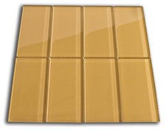 "Sahara 3"" x 6"" Glass Subway Tile modern-tile"
