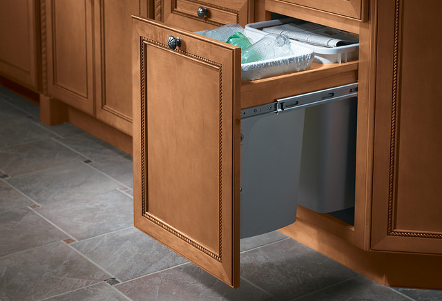 Cabinets kitchen-trash-cans