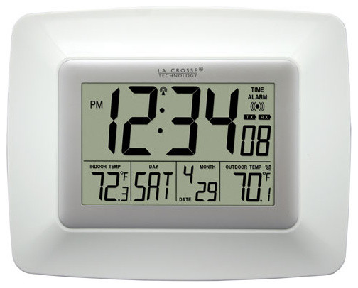 White Atomic Digital Wall Clock - Modern - Clocks - by ...