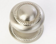 QMI Roped Cabinet Knob with Back Plate in Satin Nickel contemporary knobs