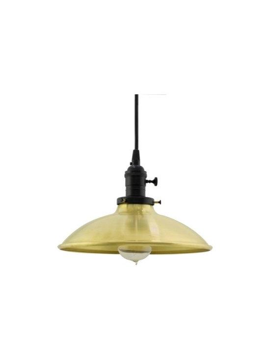 The Skylark Industrial Brass Pendant -
