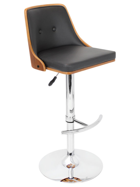 Nueva Bar Stool - WALNUT/BLACK