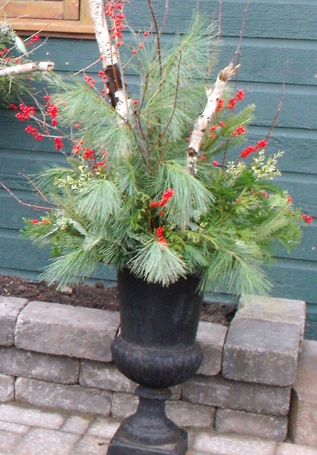 Seasonal Urns eclectic holiday outdoor decorations