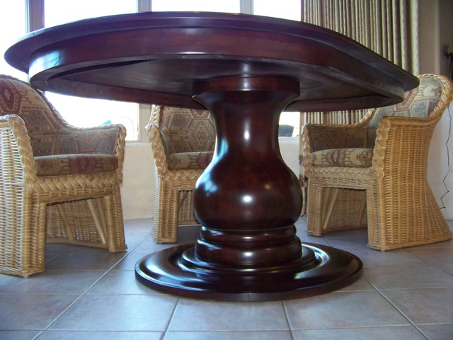 Hand Turned Cherry Table traditional-dining-tables