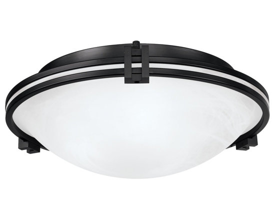 """Possini Euro Design - Possini Euro Design Bronze 16 3/4"""" Wide Ceiling Fixture - A strong Art Deco influenced design with bands of oil rubbed bronze. A marbleized glass bowl adds a soft touch. Great for hallways kitchens and more. From the Possini Euro Design Lighting Collection. Uses three 60 watt bulbs (not included). Measures 16 3/4"""" wide 5 3/4"""" high.  Oil rubbed bronze finish.  Marbleized glass bowl.  Uses three 60 watt bulbs (not included).   16 3/4"""" wide.  5 3/4"""" high."""