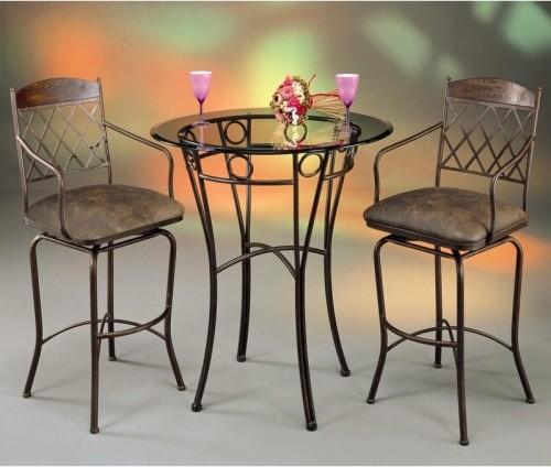 Pastel Napa Ridge Pub Table Set With Glass Top