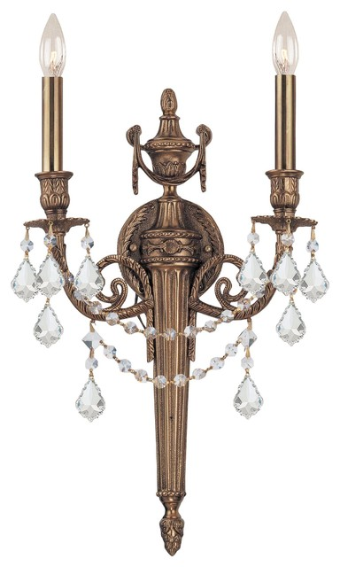 Crystorama Arlington Wall Sconce in Matte Brass traditional-wall-lighting