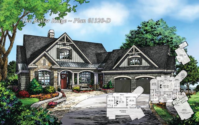 The Butler Ridge Plan 1320 D Contemporary Rendering