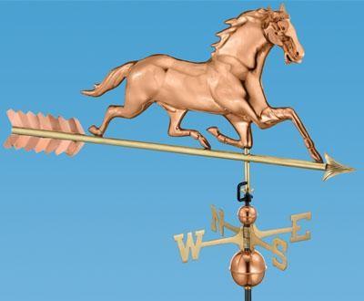 Horse with Arrow Weathervane traditional-weather-vanes