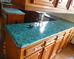 Kitchen countertops, before and after