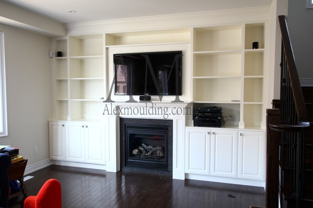 Wall Floating Tv Unit Brampton Traditional Living Room Toronto By Alex Mouldings