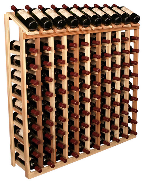 100 Bottle Display Top Wine Rack in Redwood
