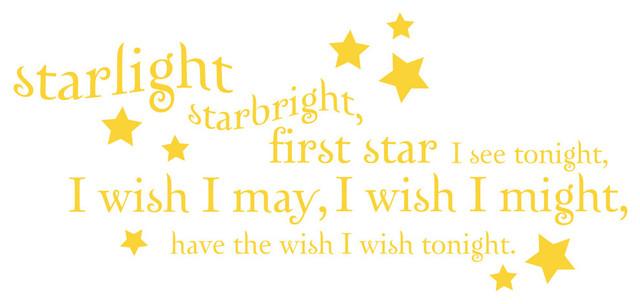 Starlight Starbright Quote Wall Decal modern-wall-decals