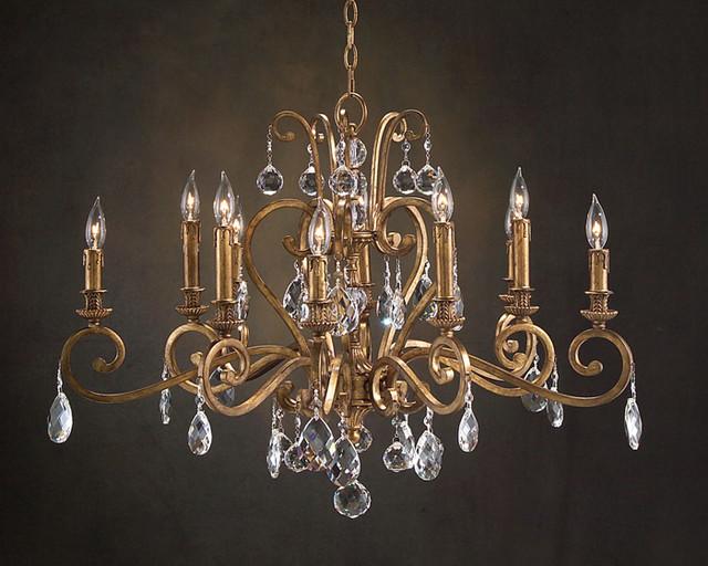 john richard 10 light chandelier ajc 8693 contemporary. Black Bedroom Furniture Sets. Home Design Ideas