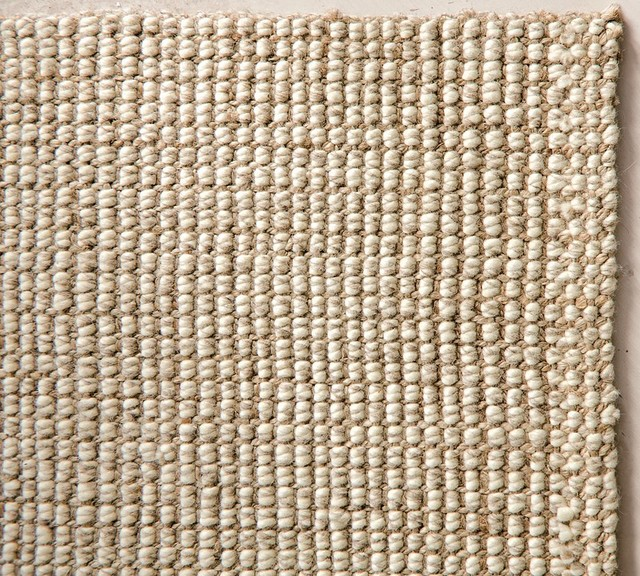 Chunky Wool & Natural Jute Rug traditional rugs
