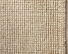 Chunky Wool & Natural Jute Rug traditional-rugs