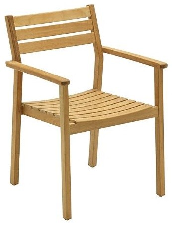Rye Stacking Chair with Arms, Patio Furniture traditional-armchairs-and-accent-chairs