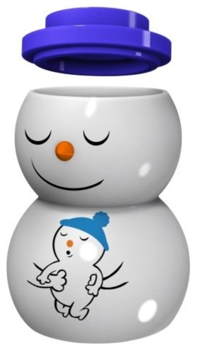 Snowdaddy Figurine/ Tealight Holder modern-holiday-decorations
