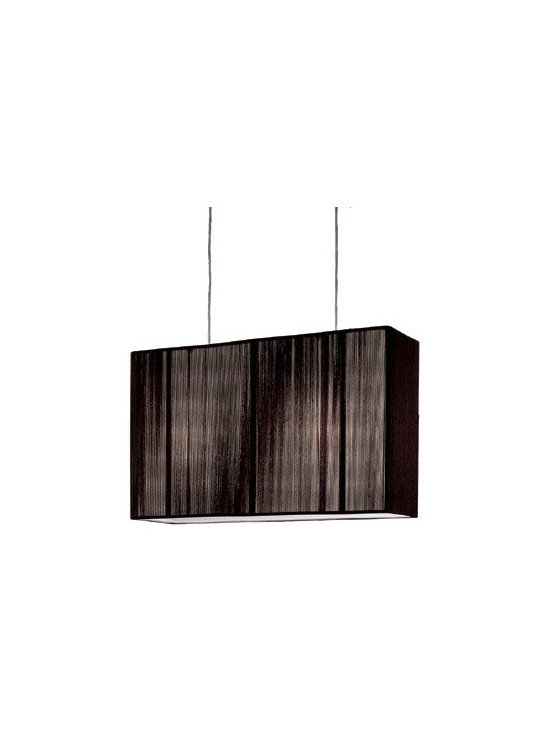 Clavius P Small Light by AXO LIGHT USA - The rectangular box shape of this drum makes it contemporary, the handmade pleated silk gives it a transitional detail taken from more traditional shades. It's a good choice for over a dining table or kitchen island.