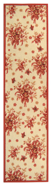 Chelsea Country & Floral Hand Hooked Wool Rug contemporary-rugs