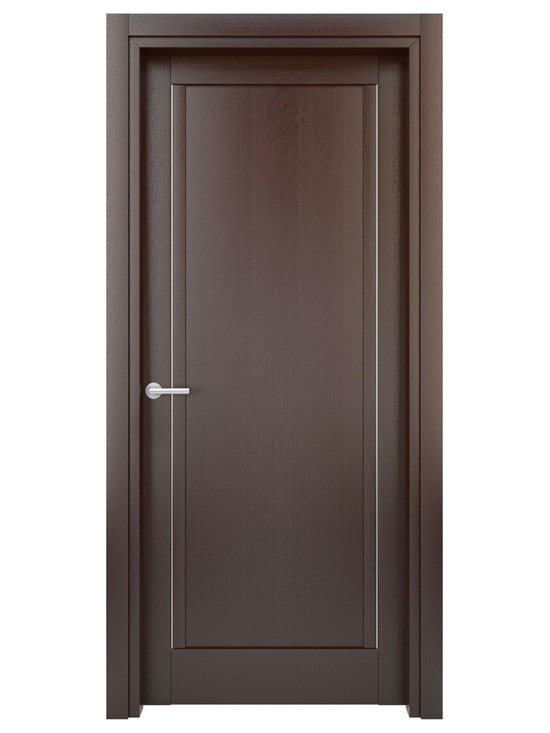 Solid Wood Interior Door – Color: Wenge; Model: W26s - Doors are made of solid wood construction covered with textured laminate, Frames are produced using solid wood covered in laminate. Moldings are plywood covered in laminate.