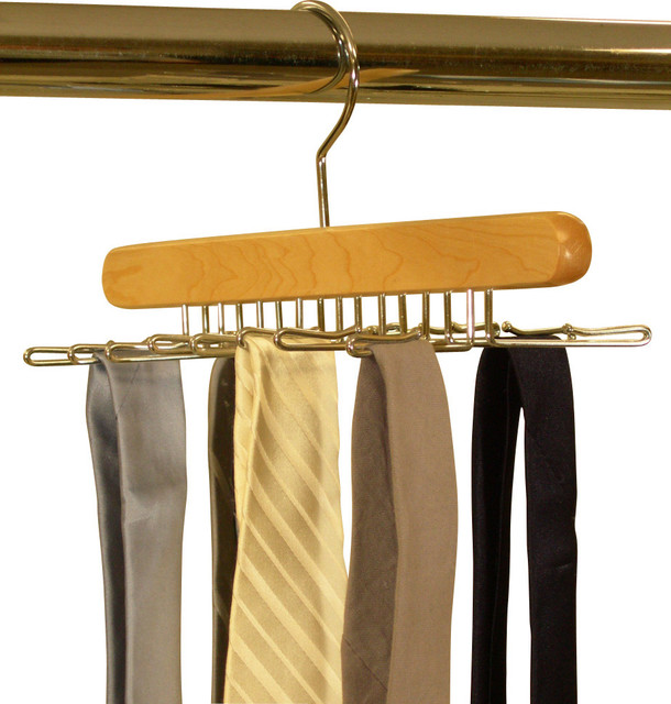 Proman Products Simplicity Tie Hanger in Natural traditional-wall-hooks