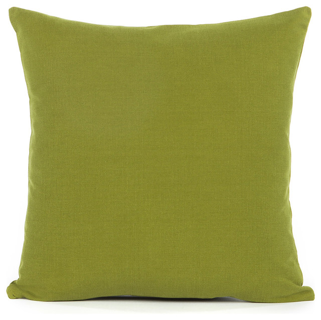 Decorative Pillows For Bed Green : Solid Olive Green Accent / Throw Pillow Cover - Contemporary - Pillowcases And Shams - by Silver ...
