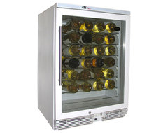 Vinotemp - 58-Bottle Wine Cooler (White) contemporary-beer-and-wine-refrigerators