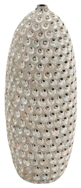 Durable Ceramic Material with Ceramic Hand Crafted Seashell Vase traditional-vases
