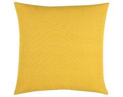 """Brinkley Yellow 18"""" Pillow modern-pillows"""