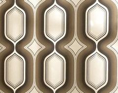 Drama Boheme Wallpaper in Chocolate contemporary-wallpaper