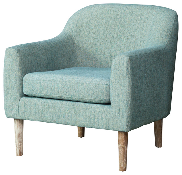 Bellview Fabric Retro Chair, Teal - Midcentury - Living Room Chairs - by Great Deal Furniture