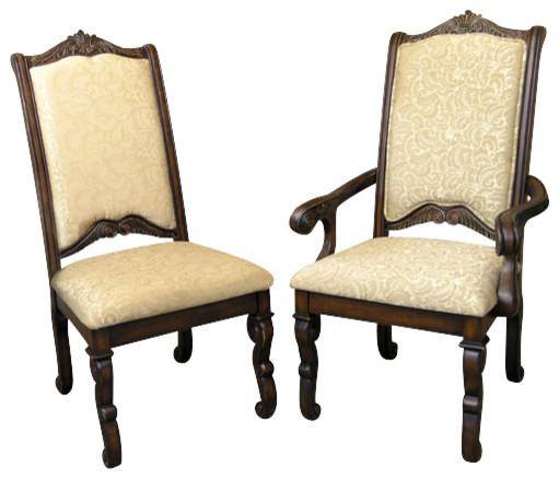 Set of 10 carved mahogany upholstered high back dining for High back upholstered living room chairs