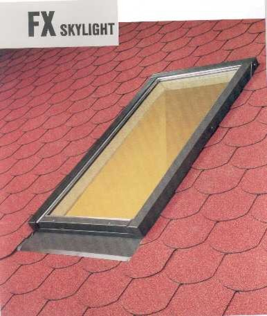 Skylight - FX-EL - 24/55 Tempered Glass Flashing Included contemporary-skylights