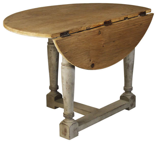 Country Cottage Drop Leaf Prague Table Farmhouse